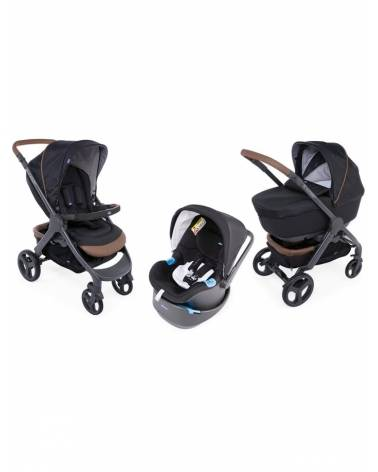 Poussette Trio STYLEGO UP Crossover Pure Black CHICCO