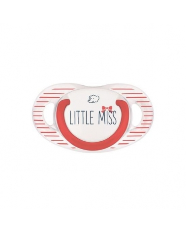 SUCETTE NATURAL PHYSIOLOGIQUE SILICONE ROUGE LITTLE MISS 0-6M Bebe confort