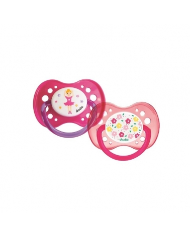 Sucette Anatomique DODIE silicone +18 mois Duo Fille A47