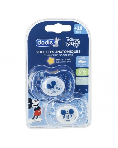 Sucette Anatomique DODIE +18 mois Duo Nuit Mickey A75