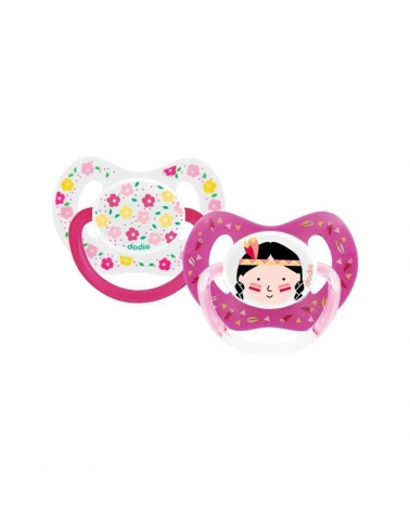 Sucette DODIE Physiologique silicone +18 mois Duo fille P51