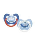 Sucette DODIE Anatomique Silicone +6 mois Duo Mer A14