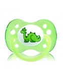 Sucette Anatomique DODIE Silicone +6 mois Dinosaure Vert AE2