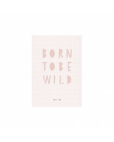 Poster pour chambre born to be wild pink 21x30 cm BBP