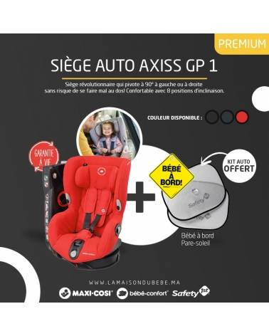 Pack Siège-auto Rotatif Groupe 1 AXISS Nomad Red Maxi-cosi Bébé Confort + KIT AUTO OFFERT
