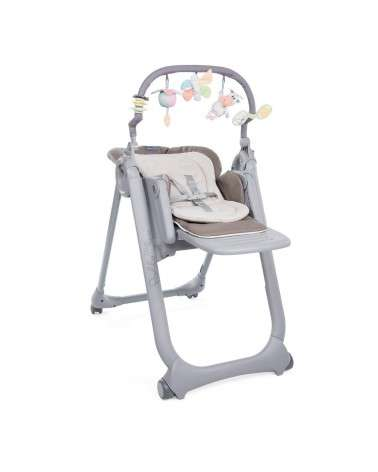 CHAISE HAUTE CHICCO POLLY MAGIC 4 ROUES COCOA