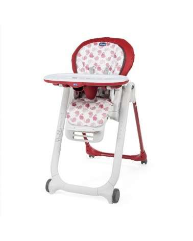 Chaise Haute CHICCO Polly Progres5 Red